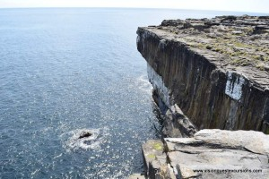 Edge of cliff at Black Fort
