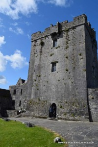 Dunguaire Castle courtyard